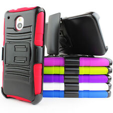 For HTC One Mini M4 Colorful Rugged Hybrid Hard Case Belt Clip Holster Kickstand