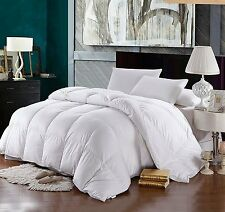 Solid 1200 Thread Count Full Queen Siberian Goose Down Comforter 750 FP White