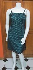 Lane Bryant Teal Navy Removable Strap Two Layer Knee Length Dress NWOT