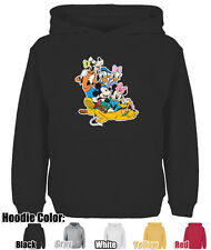 Mens Womens Disney Mickey Minnie Donald Duck Pattern Cotton Sweatshirt Hoodie