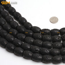 Natural Column Lava Rock Jewelry Making Gemstone Loose Beads Strand 15""
