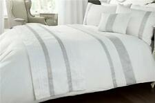 White bed accessories with embellished silver diamante trim detail