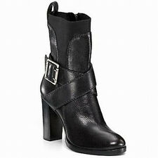 Juicy Couture NIB $325 Heath Belted Black  Leather Boots  8.5  9.5