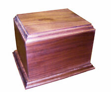 Pet Cremation Urn - 4 Sizes Walnut Cherry Oak Tigerwood Maple Cedar + engraving