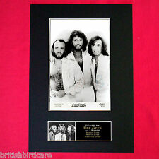 BEE GEES Mounted Signed Photo Reproduction Autograph Print A4 209