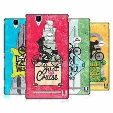 HEAD CASE DESIGNS BICYCLE LOVE HARD BACK CASE FOR SONY PHONES 3