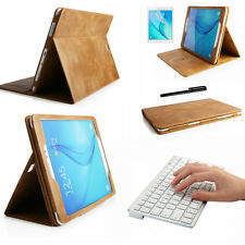 Genuine Leather Sleep/Awake Case Cover Samsung Galaxy Tab A T550+Keyboard