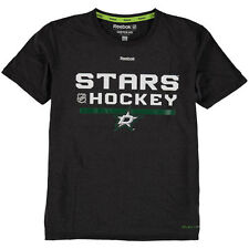 Youth Reebok Black Dallas Stars Authentic Freeze PlayDry T-Shirt - NHL