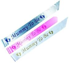 PERSONALISED Baby Shower Party Sashes Satin Sash Ribbon Pink or Blue Boy or Girl