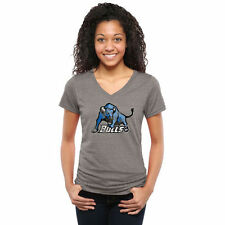 Buffalo Bulls Women's Classic Primary Tri-Blend V-Neck T-Shirt - Gray - College