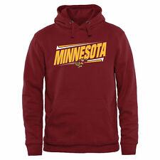 Minnesota Golden Gophers Double Bar Pullover Hoodie - Maroon - College