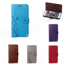 Practical 1Pcs Faux Leather Flower Durable Skin Case Cover For iPhone 6s ,5s DIY