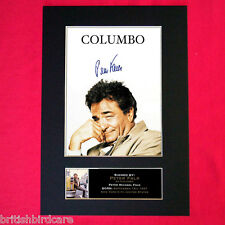 COLUMBO Peter Falk Mounted Signed Photo Reproduction Autograph Print A4 312