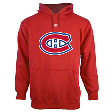 Montreal Canadiens Old Time Hockey Big Logo with Crest Pullover Hoodie – Red