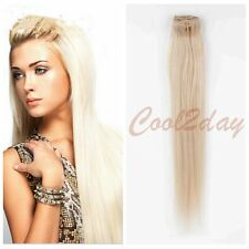 #24 Blonde Stylish Full Head 100% Clip in Remy Human Hair Extensions Hair