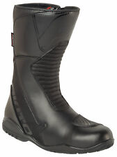 Akito Pathfinder Waterproof Motorcycle Non Slip Touring Boots Black
