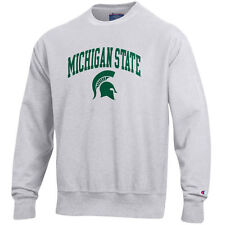 Michigan State Spartans Champion Reverse Weave Crew Sweatshirt - Gray - College
