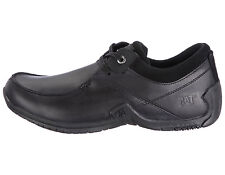 Caterpillar Surplus Black Leather Casual Lace Up Shoes Mens Trainers Size 6-8