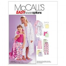 McCalls Childrens Easy Sewing Pattern 6225 Robe, Belt, Tops, Gown, Shorts ...