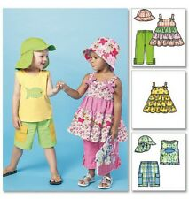Free UK P&P - McCalls Childrens Easy Sewing Pattern 6495 Tops, Dresses, S...