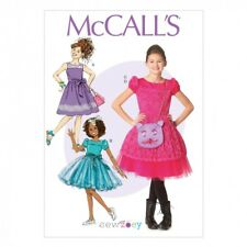 Free UK P&P - McCalls Girls Sewing Pattern 7112 Party Dresses, Belt &...