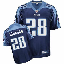 Youth Reebok NFL Equipment Chris Johnson Navy Tennessee Titans Replica Jersey