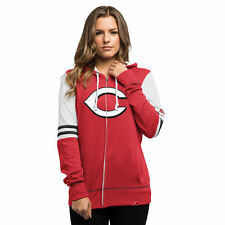 Cincinnati Reds Majestic Women's Big Time Attitude Full-Zip Hoodie - Red - MLB