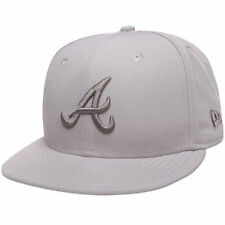 Atlanta Braves New Era Tonal Pop Basic Gray 59FIFTY Fitted Hat - MLB