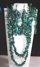 Chip Style Endless Strand Natural Gemstone Necklace, Earrings & Bracelet In Box