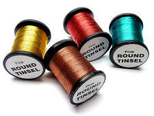 *FINE* ROUND TINSEL for Fly Tying Trout Flies Emergers Nymphs Fly Fishing RTF