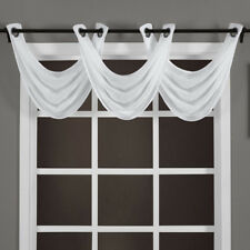 """Abri Grommet Crushed Sheer Valance 24 x 24"""" 100% Polyester"""