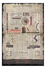Game Of Thrones Infographic Poster New - Maxi Size 36 x 24 Inch