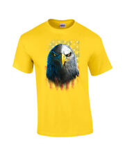 Bald Eagle Staring With American Flag T-Shirt