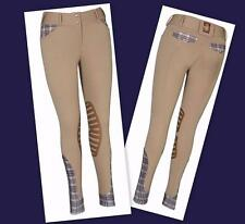 Baker Ladies Pro COOL-MAX Knee Patch Breeches Equine Couture Feel & Looks SAFARI