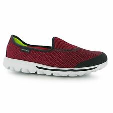 Skechers Womens Ladies Go Walk Riv Nylon Slip On Cushioned Insole Shoes Casual