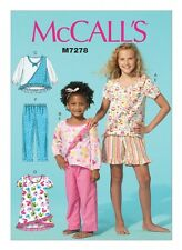McCalls Girls Easy Sewing Pattern 7278 Top, Dress, Short & Pants (McCalls...
