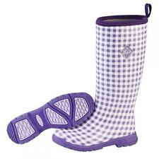 Muck Boots, Breezy Cool, Womens, Purple Gingham, Tall, Waterproof, Garden, MUBZT