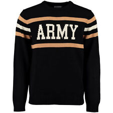 Army Black Knights Hillflint Vintage Stadium Knit Sweater - Black