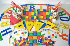 LEGO Blocks Birthday Party Set/Pack/Kit-Plates, Party Bags, Bunting, Supplies