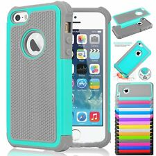 Hybrid Rugged Rubber Shockproof Back Hard Back Case Cover for Apple iPhone 5C C