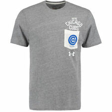 Chicago Cubs Under Armour Tri-Blend Pocket Performance T-Shirt - Gray