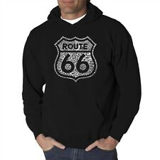 Mens Hooded Sweatshirt - Route 66 - Get Your Kicks