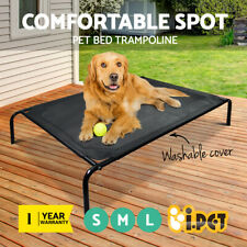 New Large Dog Puppy Cat Pet Bed Trampoline Heavy Duty Frame Hammock Mesh S M L