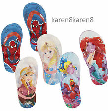 Girls Boys Sandals Beach Pool Flip Flops Primark Childrens DISNEY MARVEL