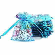 Bronzing Drawable Wedding Favour Organza Bags Jewellery Packing Gift Pouch 200PC
