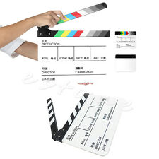 New Acrylic Film Clapperboard TV Movie Cut/Action Clapper Slate Board Clappers