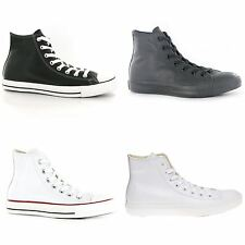 Converse Chuck Taylor All Star Leather Mens Womens Unisex Hi Top Trainers