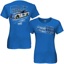 LADIES MISSY FIT DALE EARNHARDT JR #88 NATIONWIDE BLUE DYNO TEE SHIRT NASCAR