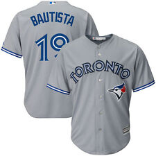 Men's Majestic Jose Bautista Gray Toronto Blue Jays Cool Base Player Jersey