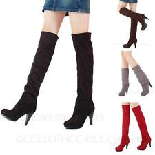 Stretchy thigh high Winter fashion Womens Over Knee Shoes Ladies Boots Size
